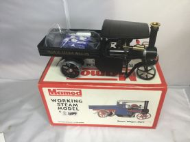 SOLD Pre Owned mamod Black Steam wagon unfired no47 of 100